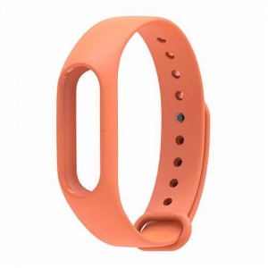 Ремешок для фитнес-браслета Xiaomi Mi Band 2 (Оранжевый)